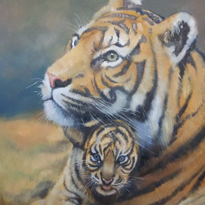 """""""Tiger and Cub"""" ~ SOLD"""