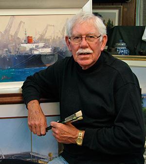Portrait image of Australian artist, John Perkins FRAS