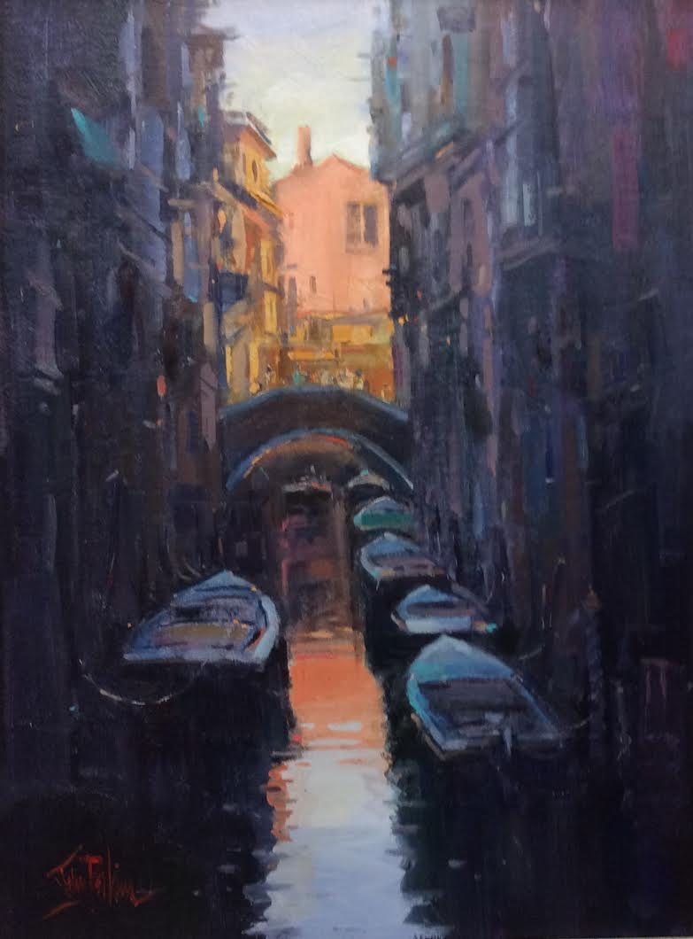 "Image of artwork: Painting ""Sunset Venice"" by John Perkins"
